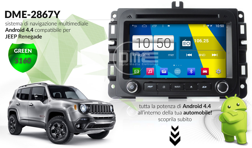 autoradio multimediale per JEEP RENEGADE