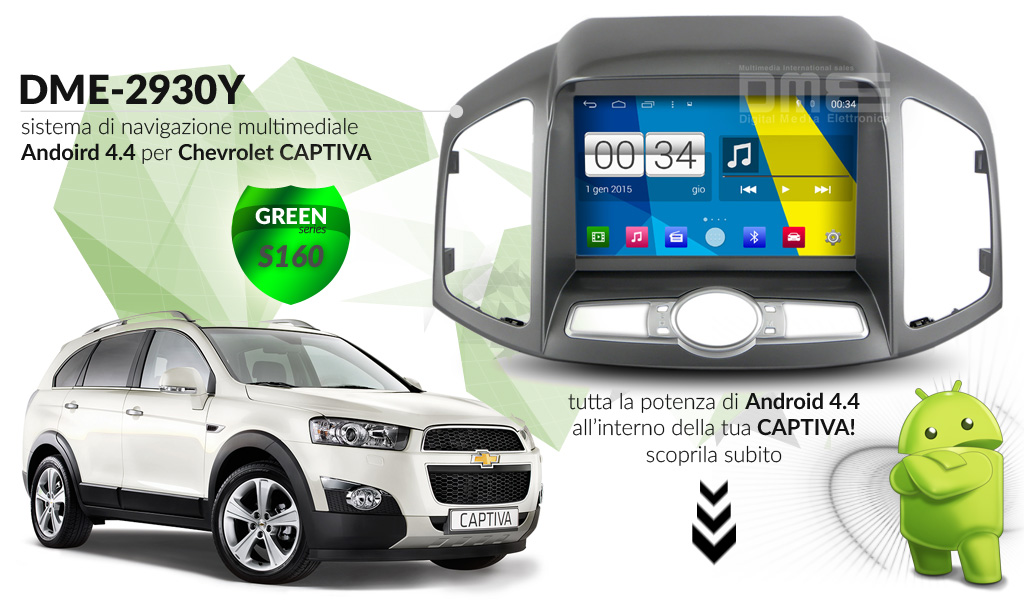 autoradio multimediale per Chevrolet Captiva (2011 - 2013)