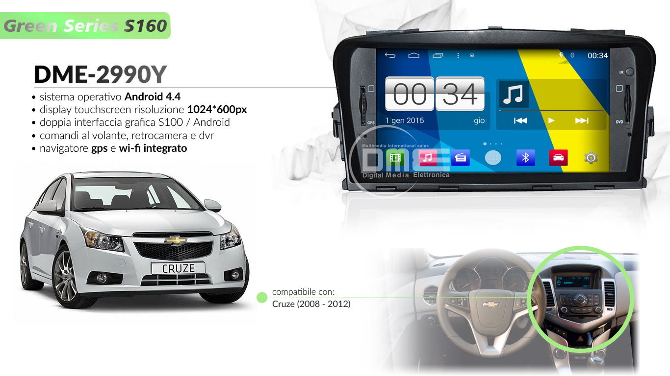 autoradio multimediale per Chevrolet Cruze