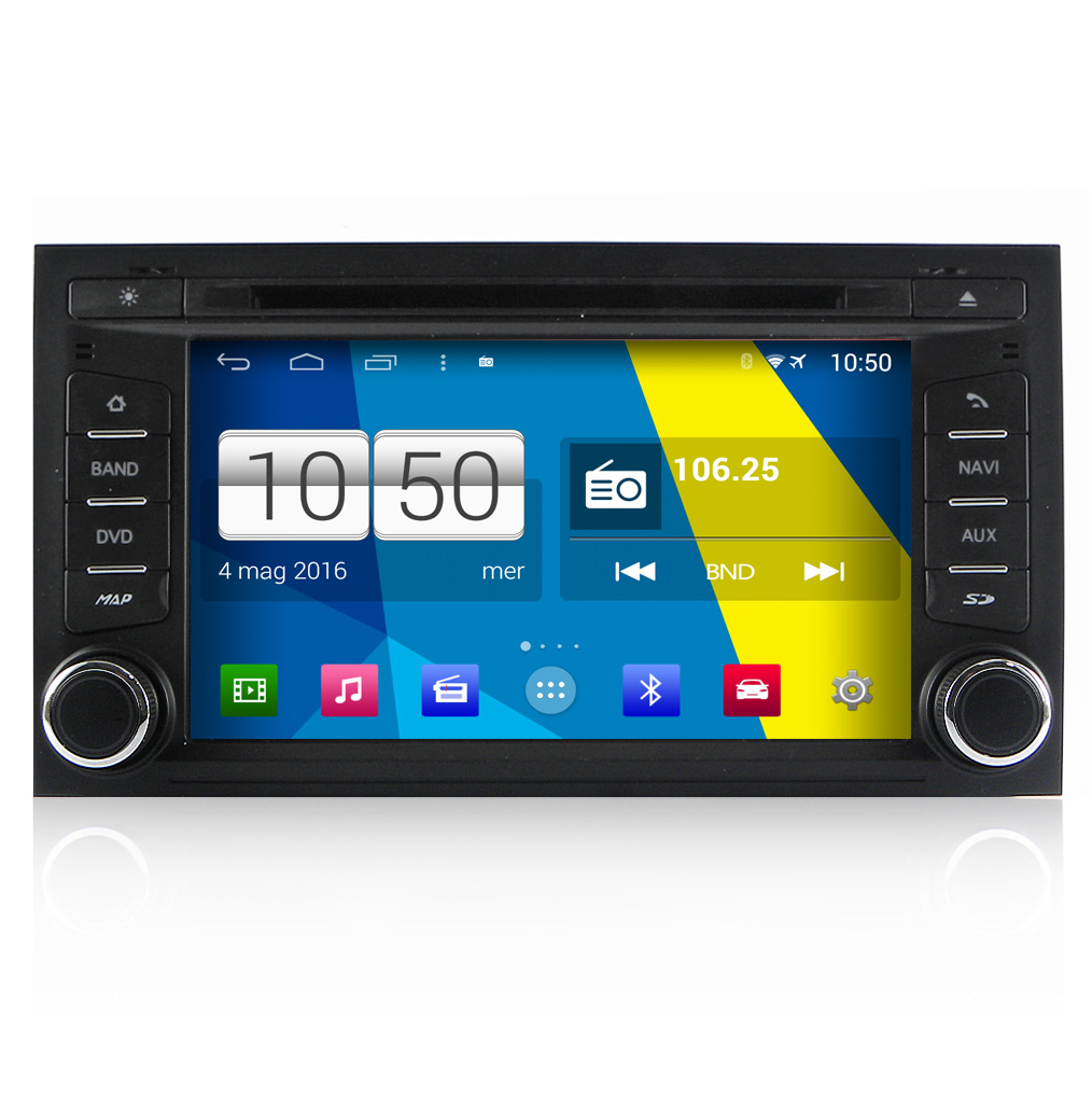 "Seat Leon Autoradio 7"" HD Android 4.4 Touchscreen DVD Navi GPS USB SD BT WiFi"