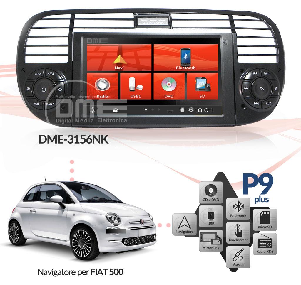 autoradio multimediale per Fiat 500 Cinquecento