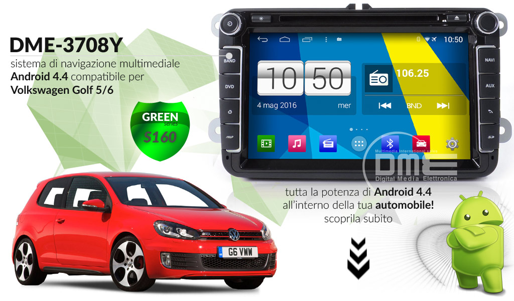 autoradio multimediale per Volkswagen Golf V / VI