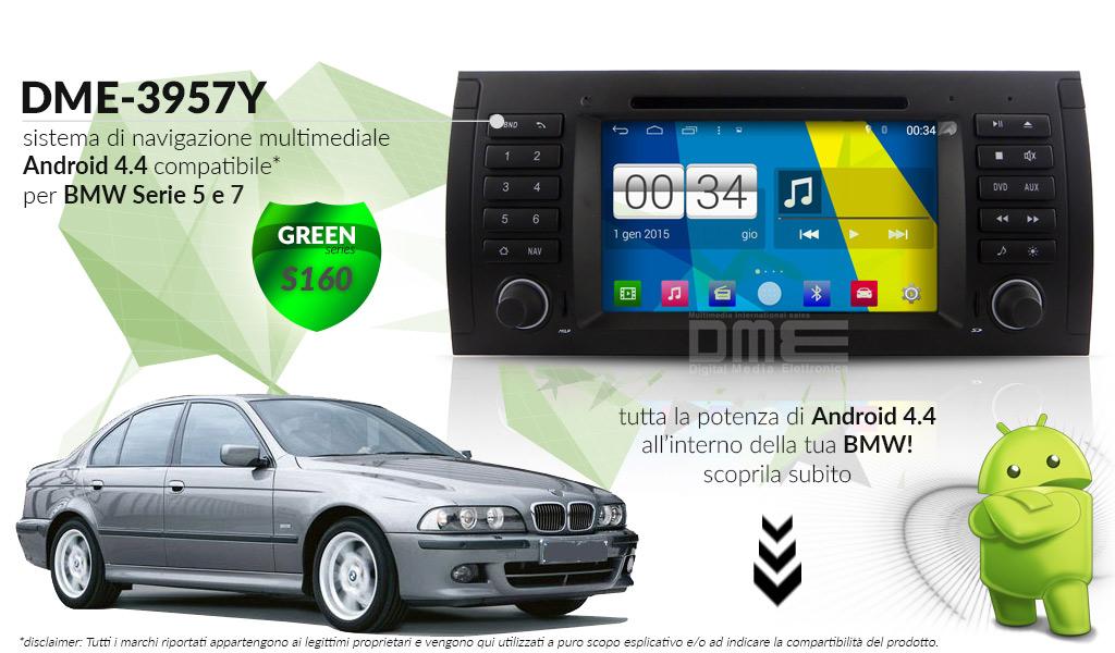 autoradio multimediale per BMW Serie 5 (E39) e 7 (E38), X5 (E53), M5