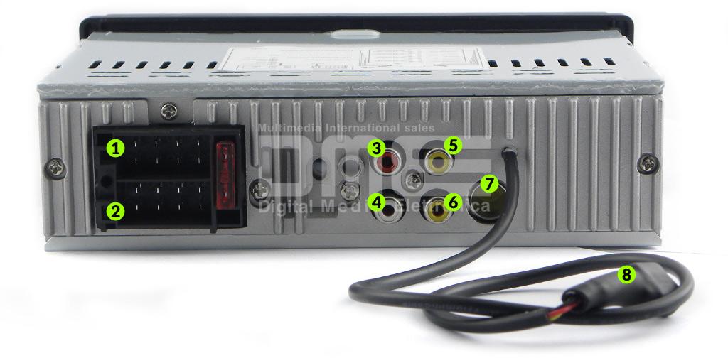 connessioni autoradio 1din multimediale