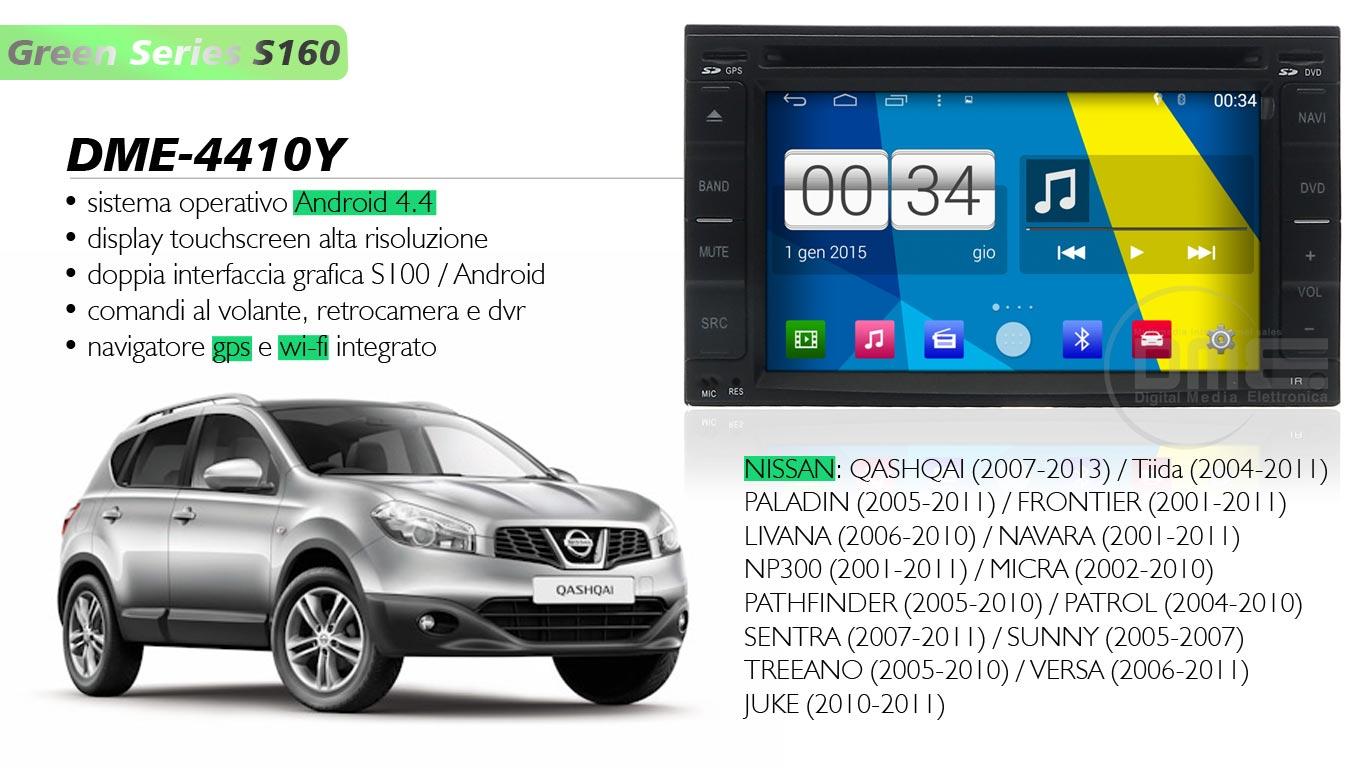 autoradio multimediale per Nissan Qashqay