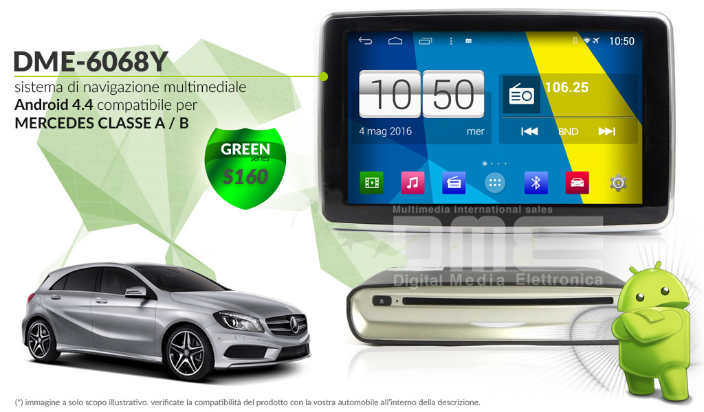 autoradio multimediale per Mercedes Classe A / B e GLA
