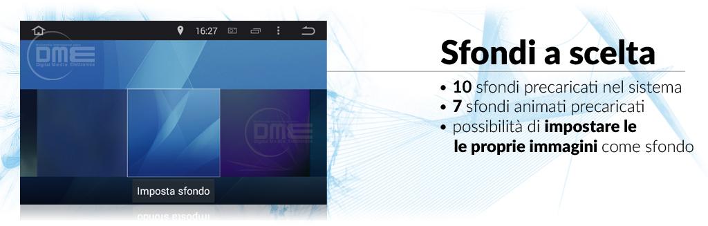 autoradio android 2DIN sfondi personalizzabili