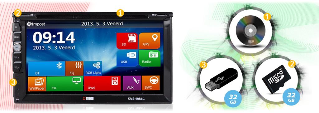 autoradio multimediale con usb