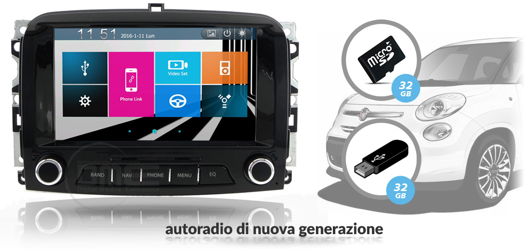 autoradio multimedial fiat 500 L