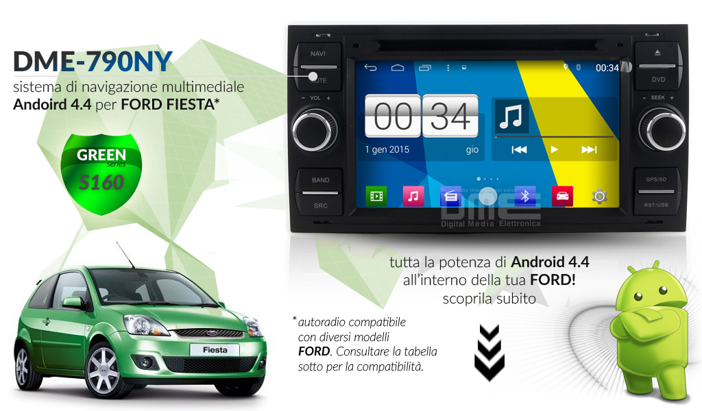 autoradio multimediale per Ford Fiesta