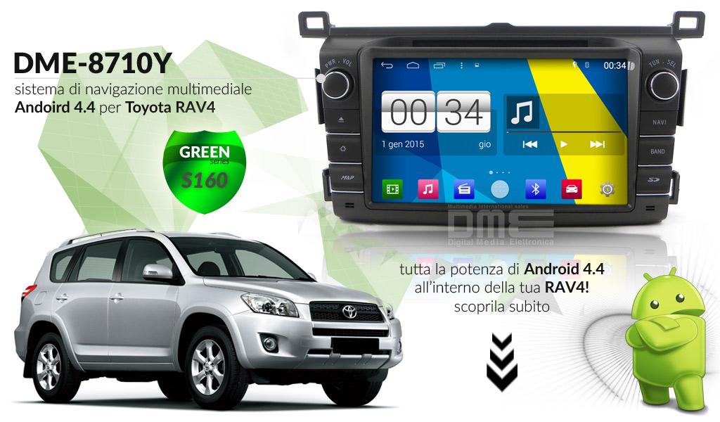 autoradio multimediale per Toyota Rav4 (2013)