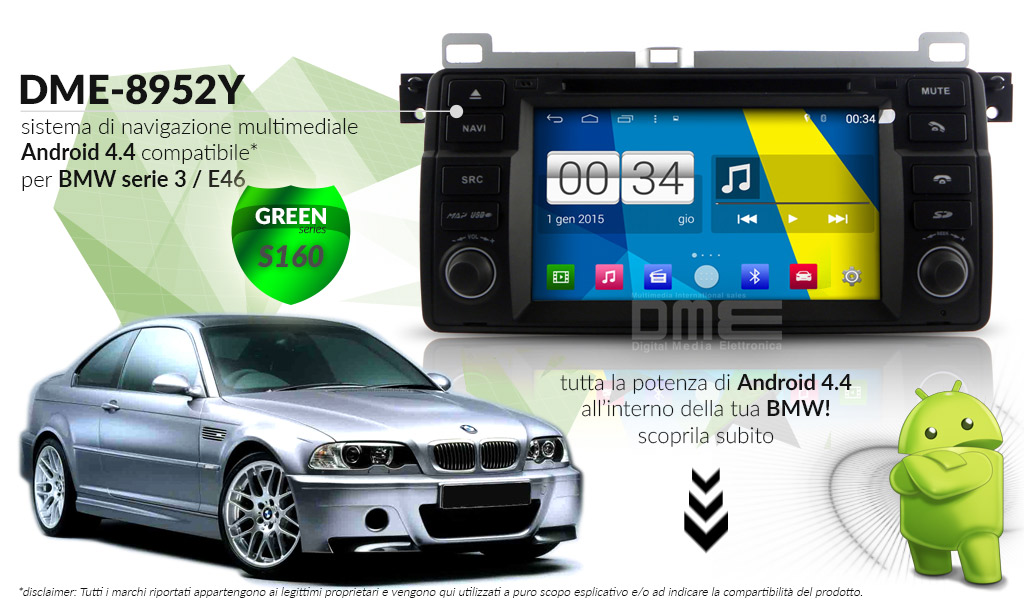 autoradio multimediale per BMW Serie 3 E46