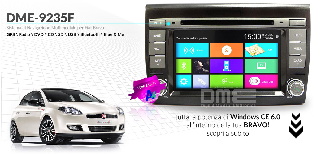 autoradio per Fiat Bravo
