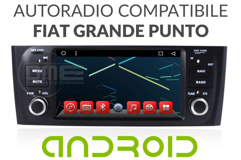 autoradio multimediale ANDROID per FIAT GRANDE PUNTO