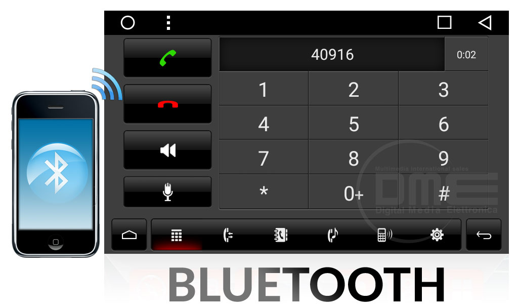 autoradio android 2din con bluetooth
