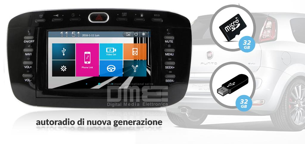 autoradio multimediale per Fiat Punto EVO