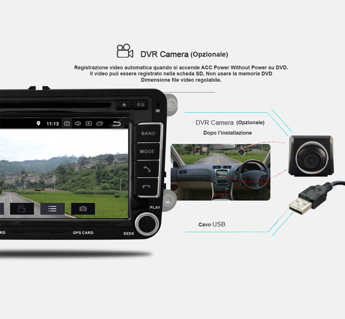 autoradio con funzione dash camera