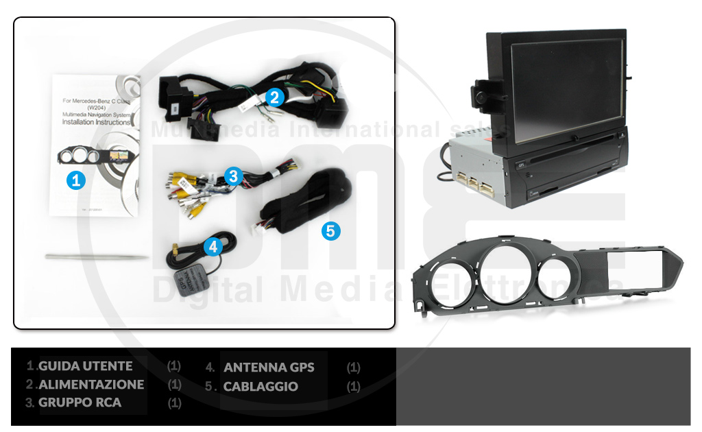 accessori in dotazione autoradio
