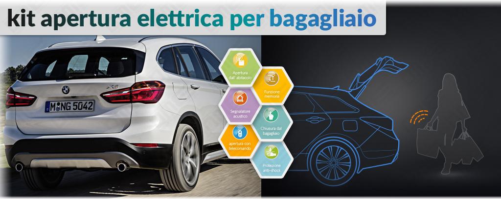 kit apertura elettrica bagagliaio per BMW X1