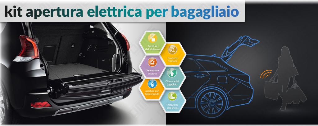 kit apertura elettrica bagagliaio per Peugeot 3008