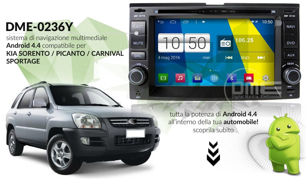 autoradio multimediale per Kia Sportage Sorento Picanto Carnival