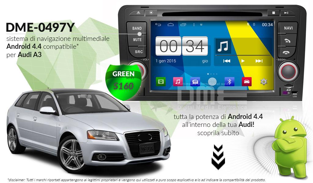 autoradio multimediale per Audi A3