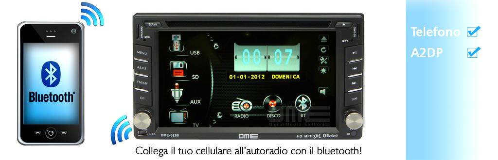 autoradio con bluetooth