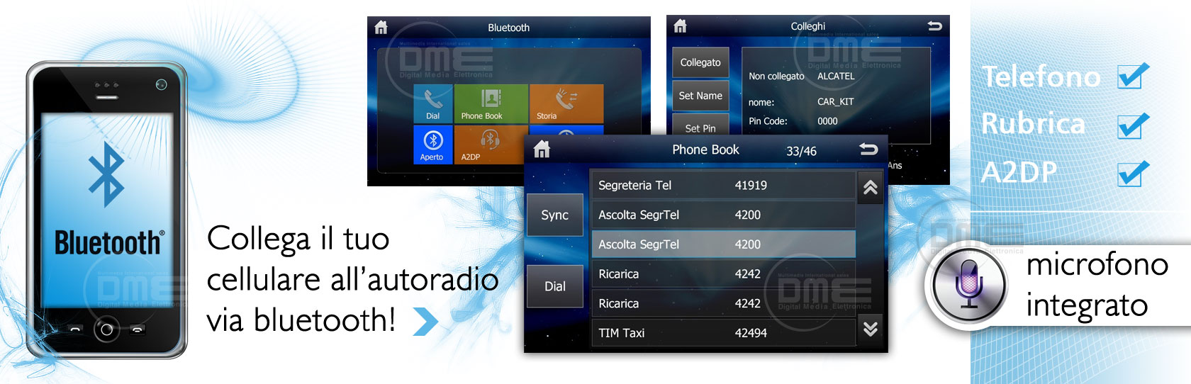 autoradio 2din con bluetooth