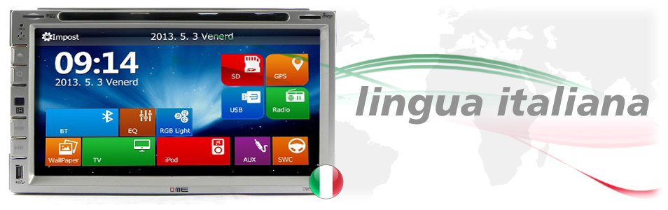 autoradio 2DIN touchscreen lingua italiana
