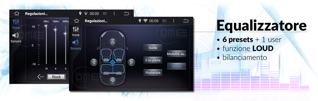 audoradio android 2din con equalizzatore