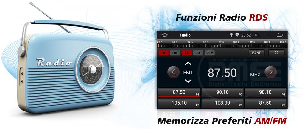autoradio 2din android con radio rds