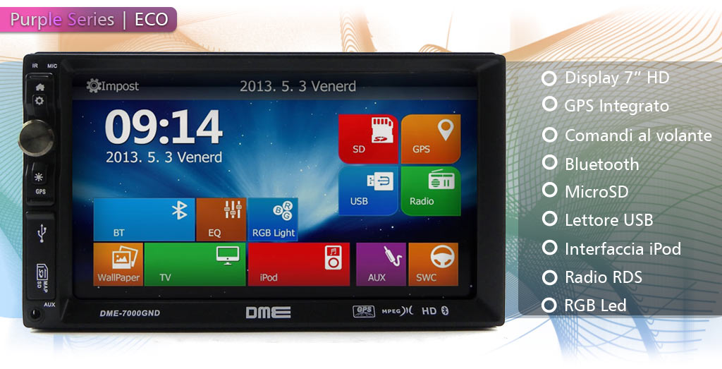 autoradio 2 din touch screen
