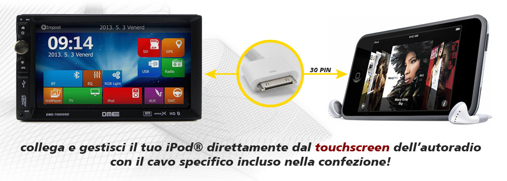 autoradio iphone compatibile