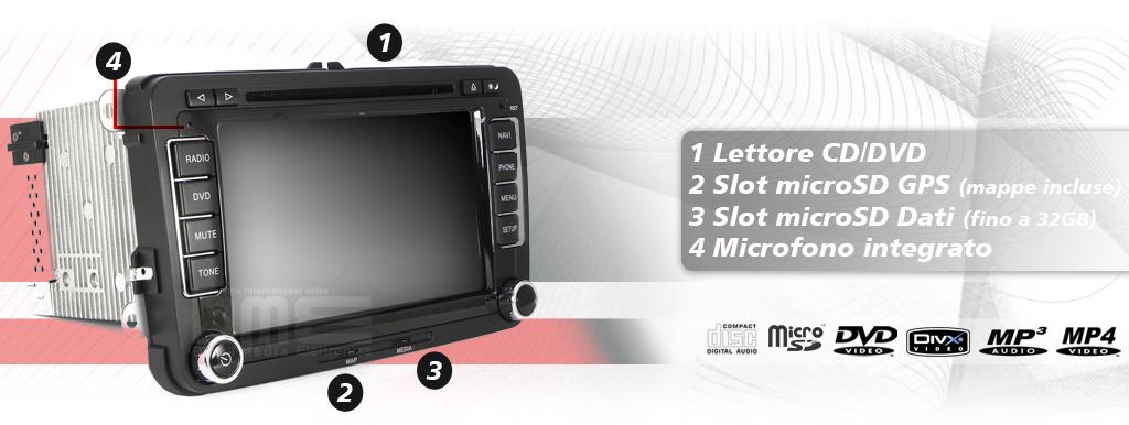 autoradio multimediale golf 5