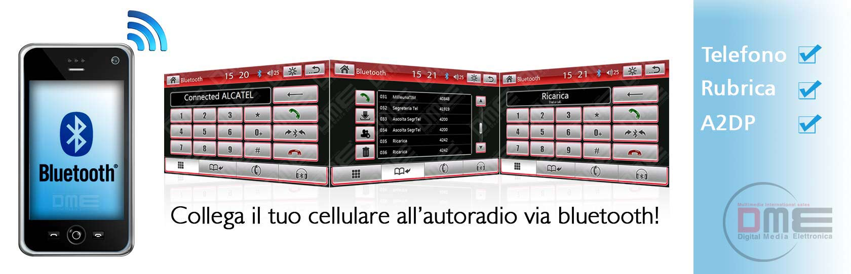 autoradio con bluetooth