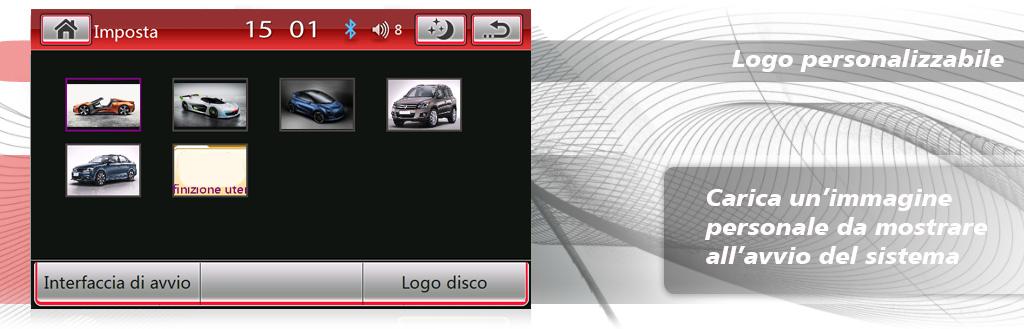 autoradio volkswagen con logo