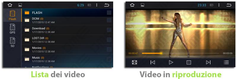 autoradio con funzioni multimediali