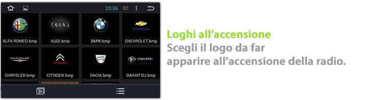 autoradio con loghi personalizzabili