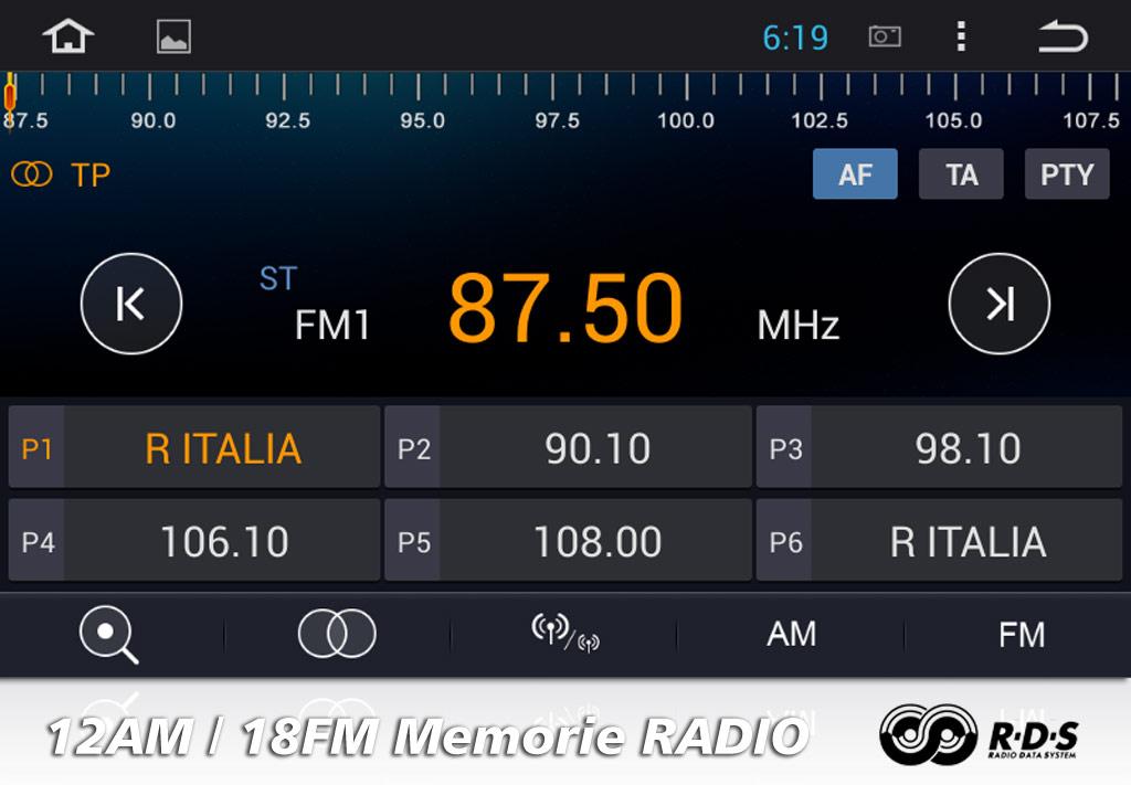 autoradio con radio rds