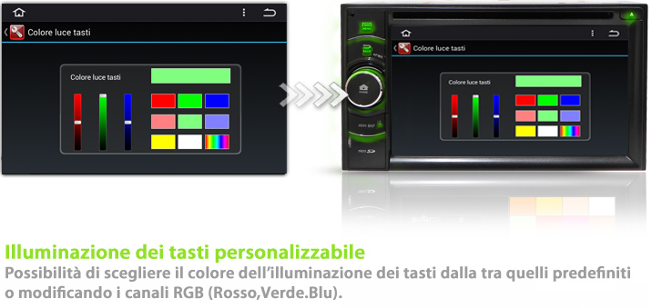 autoradio con led rgb