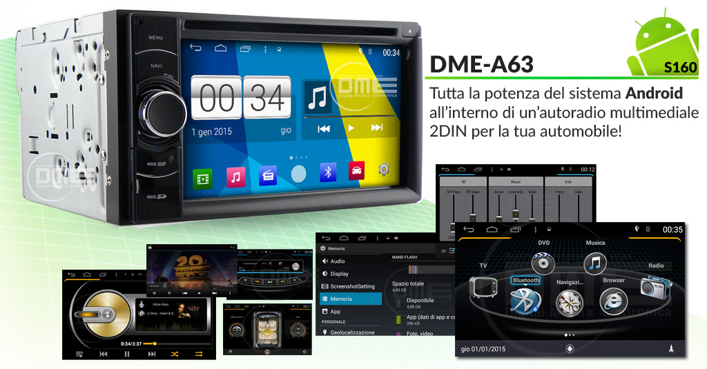 autoradio multimediale con android 4.4