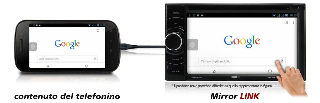 autoradio con mirror link