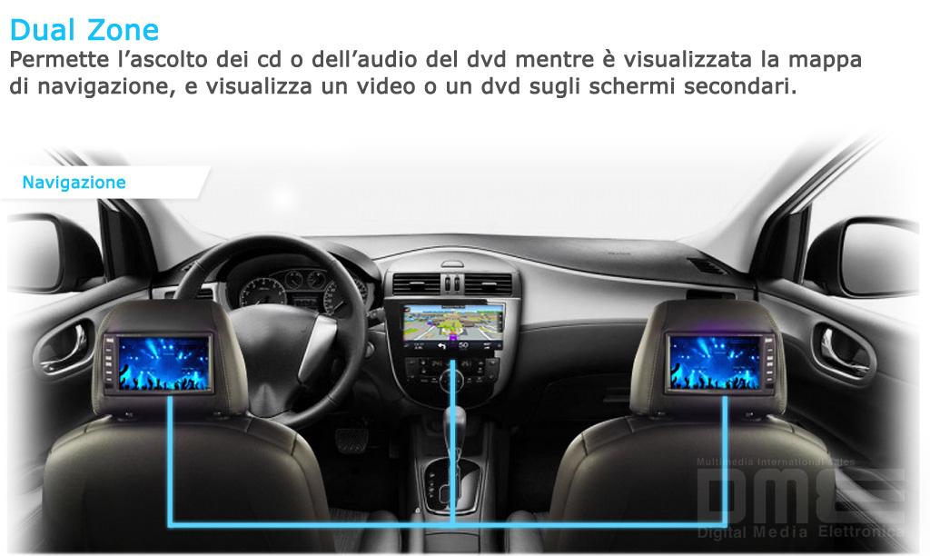 autoradio Fiat Bravo con poggiatesta