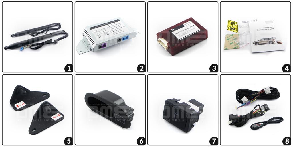 accessori in dotazione apri baule elettrico per Toyota RAV 4