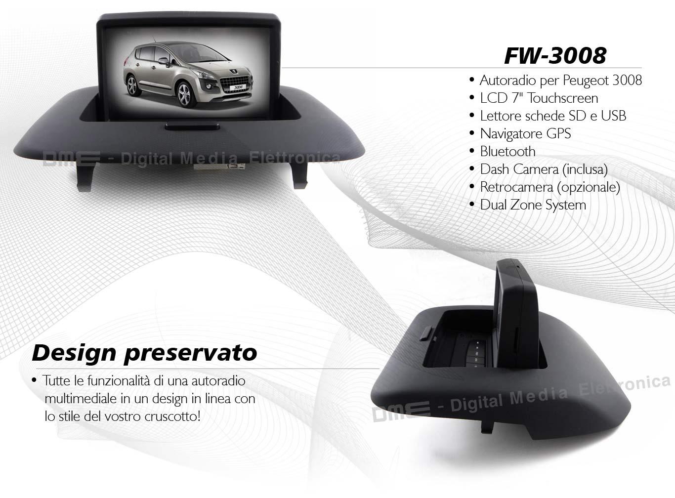 autoradio multimediale per Peugeot 3008 (dal 2009 al 2013)*