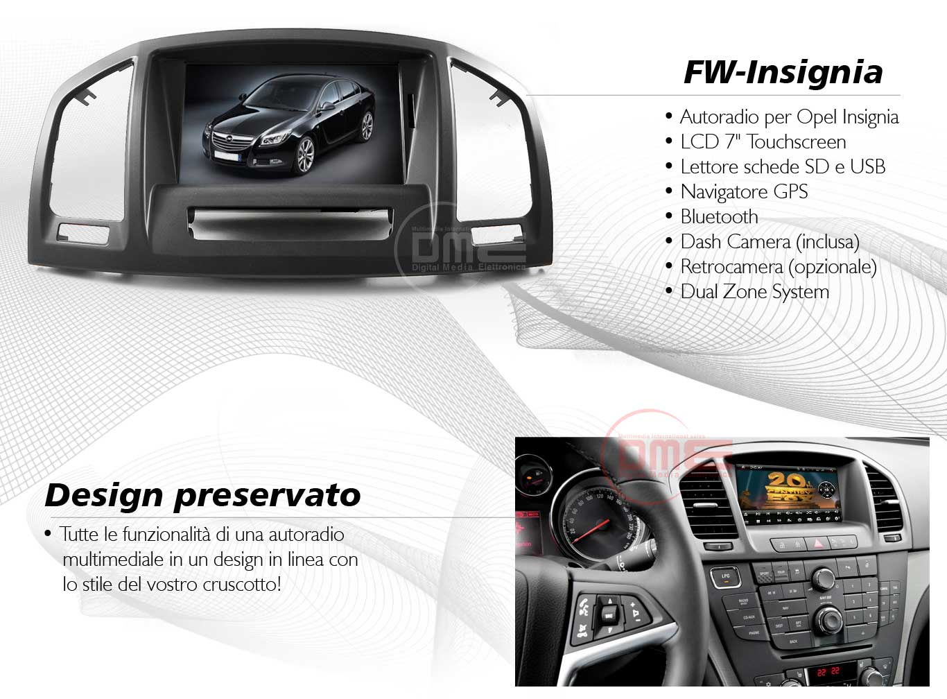 autoradio multimediale per Opel Insignia