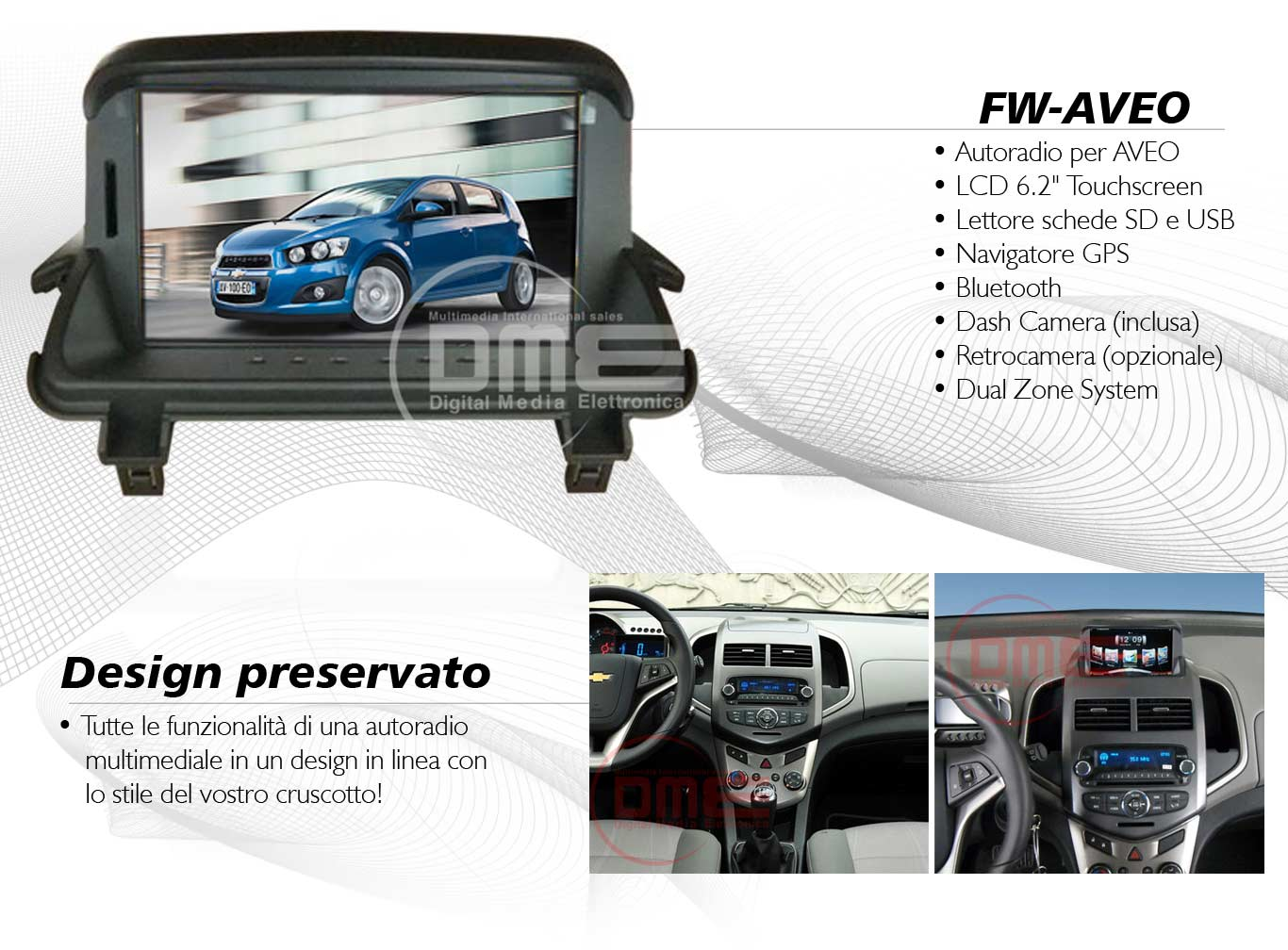 autoradio multimediale per Chevrolet Aveo