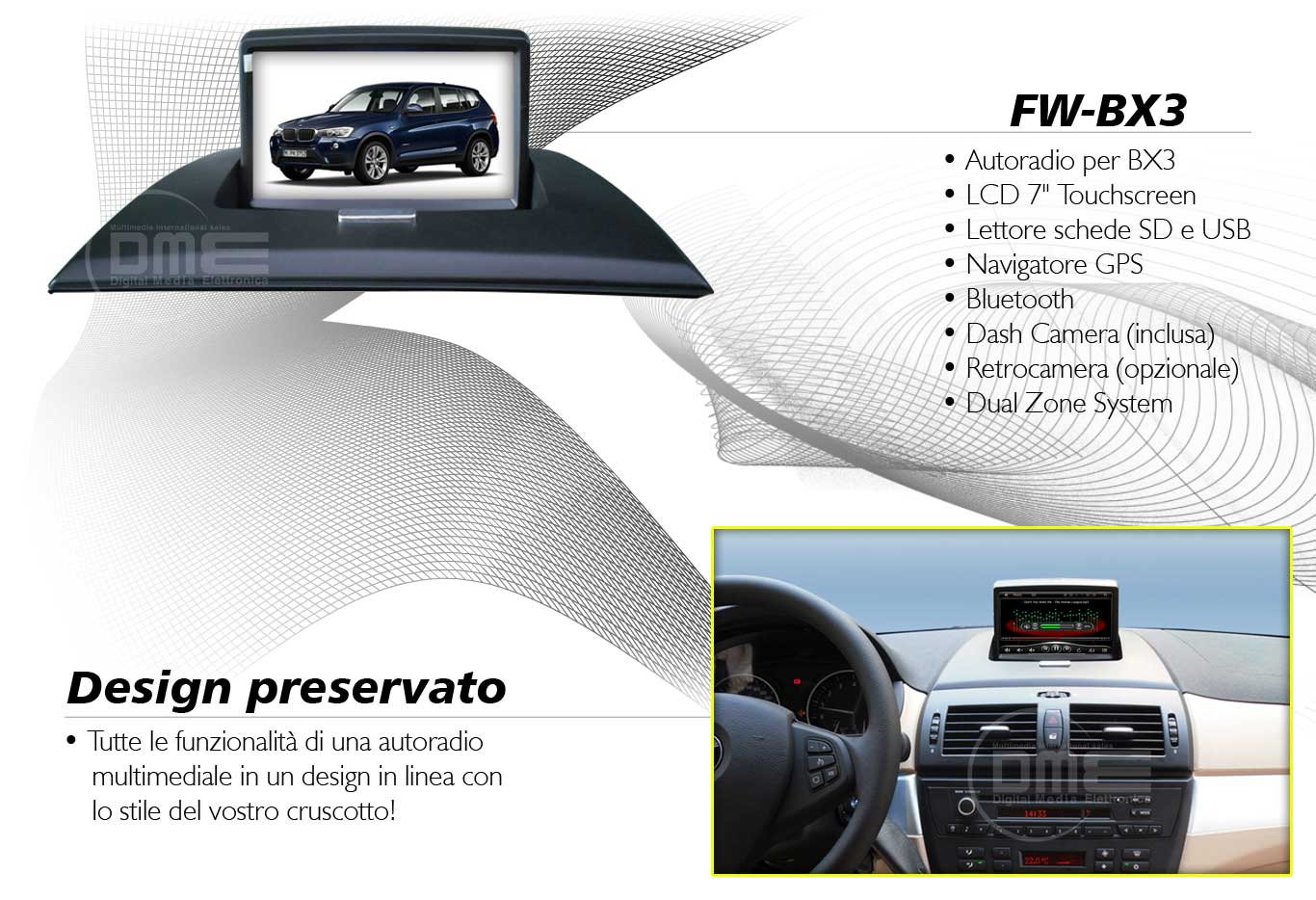 autoradio multimediale per BMW X3