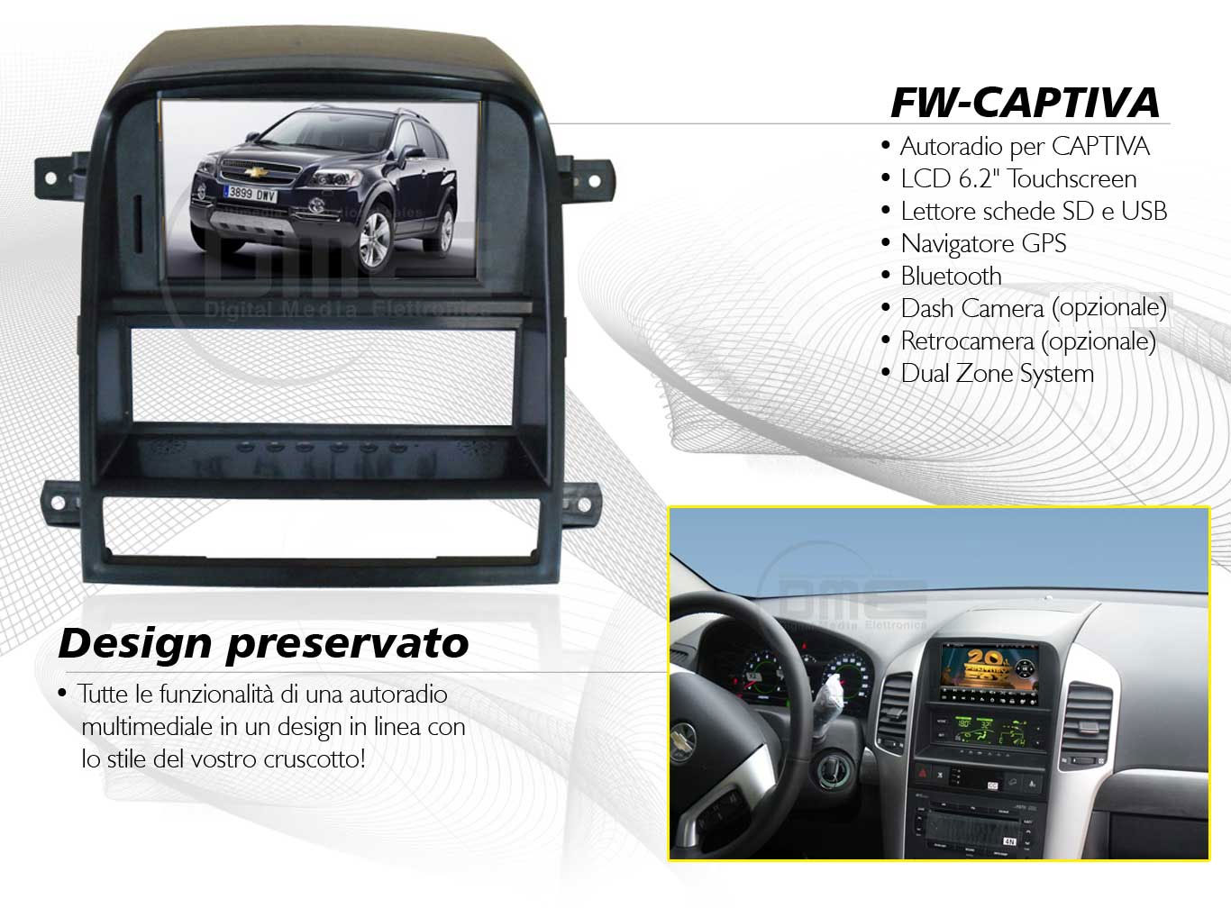 autoradio multimediale per Chevrolet Captiva