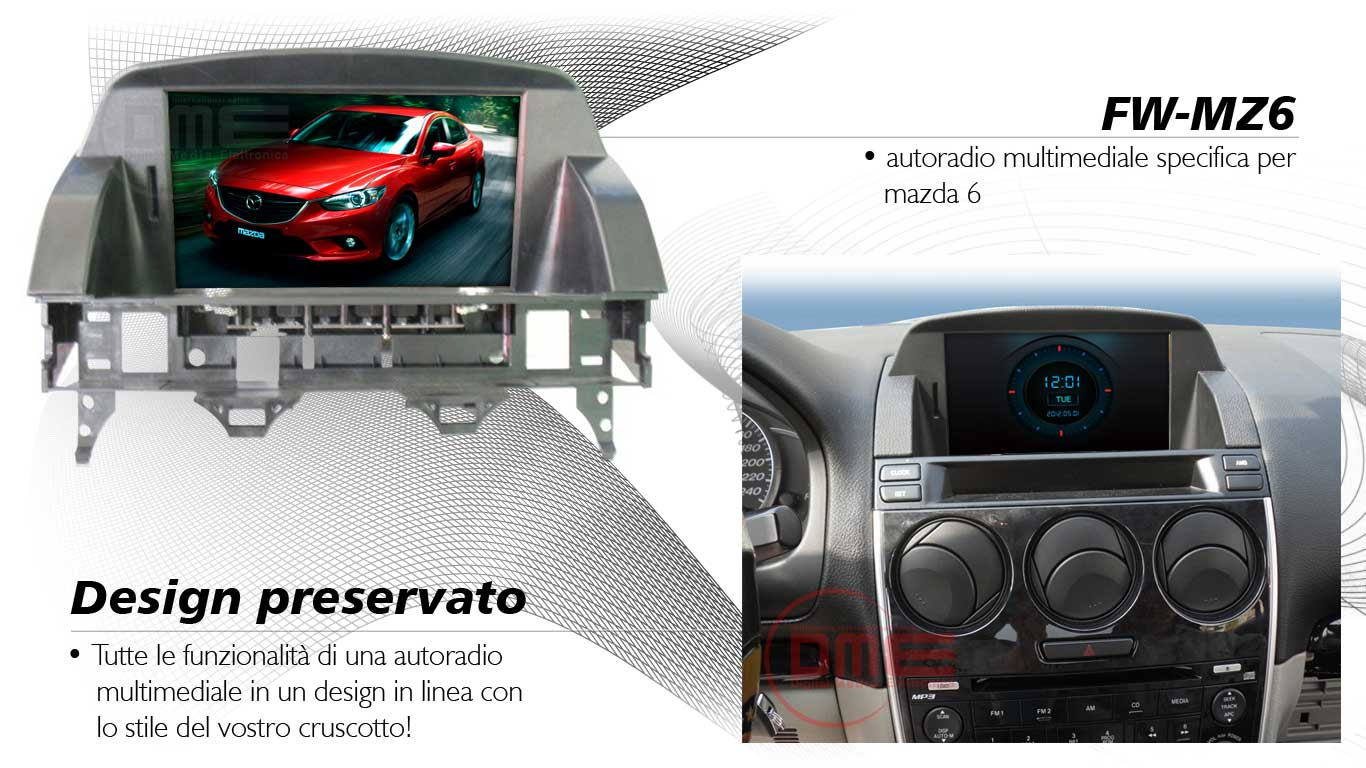 autoradio multimediale per mazda 6